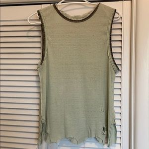 Free People We The Free Destroyed Muscle Tank XS